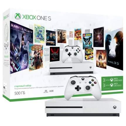 Игровая приставка Microsoft Xbox One S 500Gb White + Game Pass/Live Gold 3 месяца
