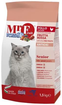 Сухой корм для кошек Forza10 Mr Fruit Senior, для пожилых, курица, рыба, 1,5кг