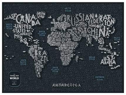 Географическая карта 1DEA.me Travel Map Letters World