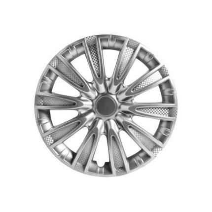 Колпаки колесные AIRLINE 15 дюймовТорнадо серебристые, карбон