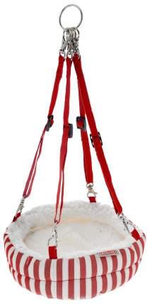 Гамак для хорьков, крыс ZOLUX бортик, утепление полиэстер 20x20см белый, красный, бежевый