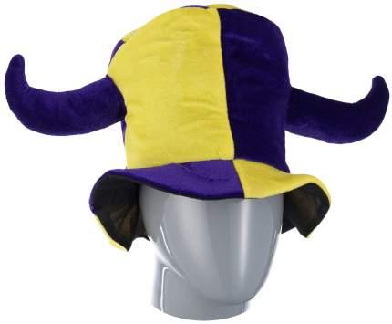 Шутовская шляпа с двумя рогами желто фиолетовая Snowmen Е40264