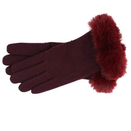 Женские бордовые перчатки Pia Rossini Charlie_cranberry