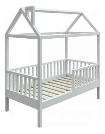 Кровать-домик Трурум KidS Сказка узкий бортик, вход слева белая