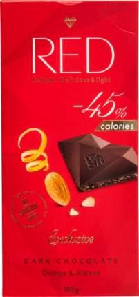 Шоколад темный RED апельсин миндаль со сниженной калорийностью 100 г