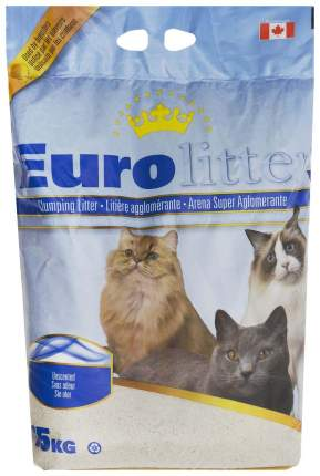 Комкующийся наполнитель для кошек Eurolitter Dust Free бентонитовый, 15 кг