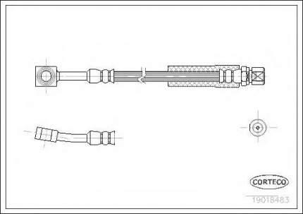 Шланг тормозной системы Corteco 19018483