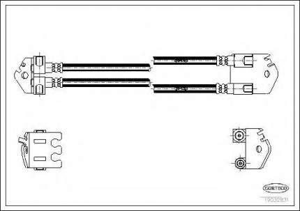 Шланг тормозной Corteco 19032831