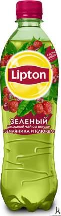 Чай зеленый Lipton клюква-земляника 0.5 л