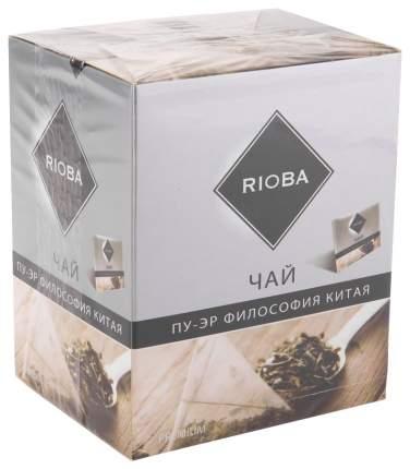 Чай черный Rioba байховый крупнолистовой пу-эр философия Китая 20 пакетиков