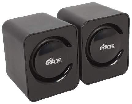 Колонки компьютерные RITMIX SP-2050 Black 2,0, 2x2,5 Вт, 20-18000 Гц, mini Jack, USB