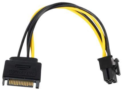 Адаптер Orient SATA 15 pin-PCI-e 6 pin, M-M 0,15м Black (C512)