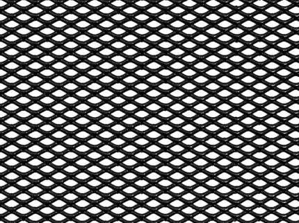 Сетка в бампер автомобиля Dollex 120х30см,Чёрный,Алюминий,ячейки 6х3,5мм,DKS-133