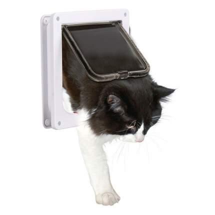 Дверца для кошек TRIXIE, магнитная, 4 позиции, белая, 14,7х15,8см