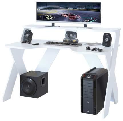 Компьютерный стол СОКОЛ КСТ-117 140x80x96,3 см, белый