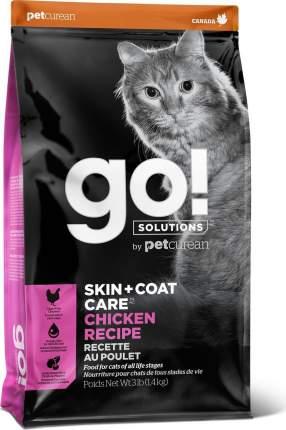 Сухой корм для кошек и котят GO! Skin + Coat, с цельной курицей, фруктами и овощами, 1,4кг