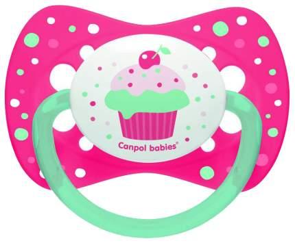 Пустышка Canpol Cupcake симметричная, силик., арт. 23/283, 6-18 мес., цвет розовый