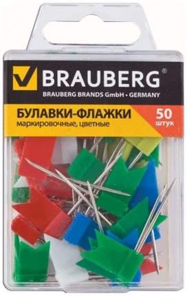 Булавки Brauberg флажки 221537