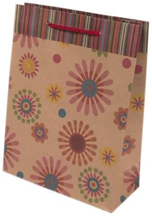 """Пакет бумажный """"Фейерверк цветов"""", 19x24,5x8 см"""
