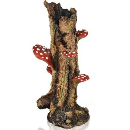 Декорация для аквариума biOrb Mushroom trunk, пень с грибами, 12х10х22см