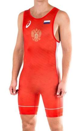 Трико Asics Russia Wrestling Singlet, red, 3XL INT