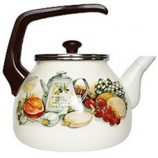 Чайник для плиты Interos Аппетит 3,0л эмалированный с кр.