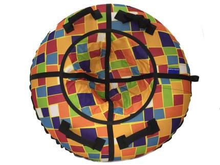 Тюбинг Мистер Вело Standart Разноцветные прямоугольники 85 см