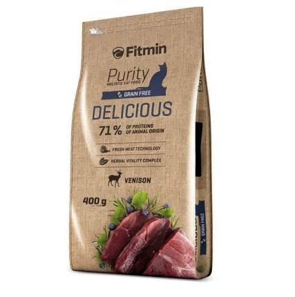 Сухой корм для кошек Fitmin Purity Delicious, для привередливых, беззерновой, дичь, 0,4кг