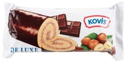 Рулет бисквитный Kovis De Luxe Шоколадно-ореховый 200г