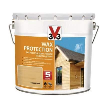 Алкидный антисептик для дерева с добавлением воска WAX PROTECTION Калужница 2,5л