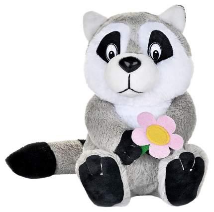 Мягкая игрушка Maxitoys Енотик с цветочком, озвученный 21 см