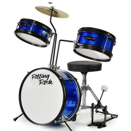 Детская Ударная установка Rolling Rock Kids Jr-1288bl - Цвет - синий