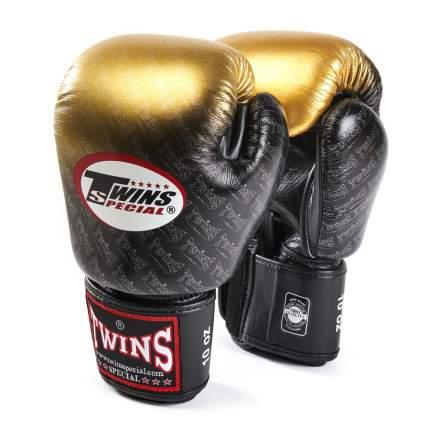 Перчатки боксерские Twins FBGVL3-TW1 FANCY BOXING GLOVES черно-золотые