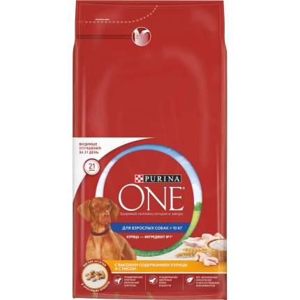 Сухой корм для собак Purina One, средних и крупных пород, курица, рис, 3,8кг