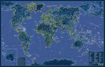 Карта мира. СВЕТЯЩАЯСЯ В ТЕМНОТЕ.Сувенирное издание. Не имеет аналогов