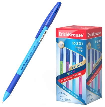 Ручка шариковая R-301 NEON 0,7 Stick&Grip 4 штуки синий 42023EK ErichKrause