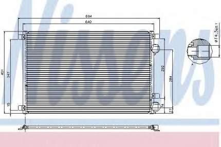 Радиатор кондиционера Nissens 94626