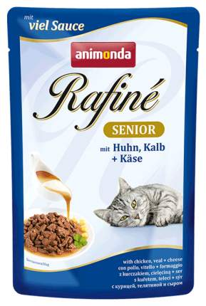 Влажный корм для кошек Animonda Rafine Senior, курица, телятина, 24шт, 100г