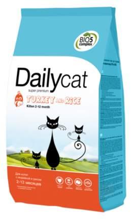 Сухой корм для котят Dailycat Kitten, индейка с рисом, 10кг