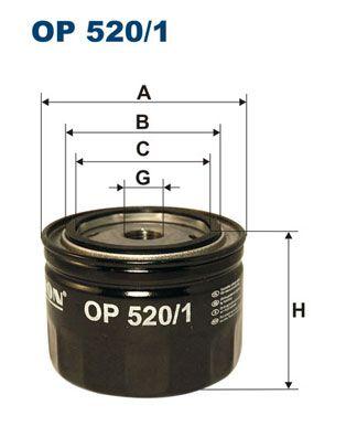 Фильтр масляный FILTRON OP520/1