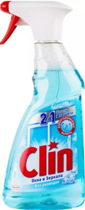 Кристалл для мытья окон и зеркал Henkel Clin 2в1 блеск и защита 500 мл