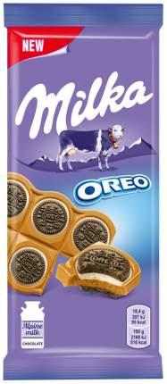 Шоколад молочный Milka печенье орео со вкусом ванили 92 г