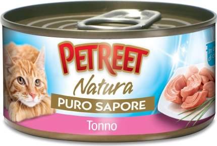 Консервы для кошек Petreet Natura, тунец, морепродукты, кусочки, 70г