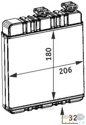 Теплообменник, отопление салона легковой автомобиль Hella 8FH351311-141
