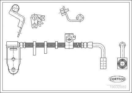 Шланг тормозной CORTECO 19032882