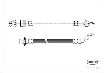 Шланг тормозной CORTECO 19035887