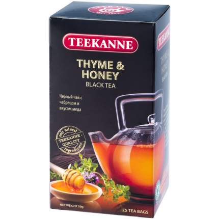 Чай Teekanne тимьян мед черный 25 пакетиков