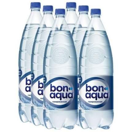 Вода Bonaqua чистая питьевая газированная 2 л  6 штук в упаковке