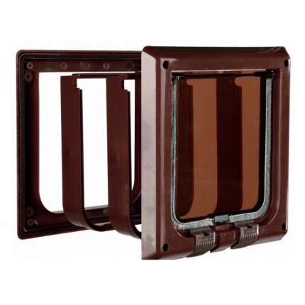 "Дверца для кошек TRIXIE ""De Luxe"" 15,8х14,7см с 4 функциями коричневая"