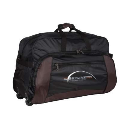 Дорожная сумка Polar 6025 коричневая 75 x 44 x 27